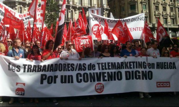 Un 75% de los trabajadores de Contact Center ha secundado la huelga de 24 horas en el día de ayer