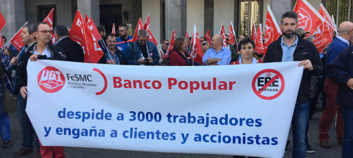 Los trabajadores del Grupo Banco Popular se concentrarán en Oviedo en protesta por un ERE que prevé una brutal destrucción de empleo