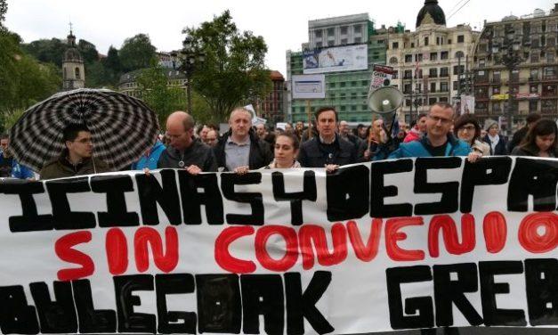 UGT valora el amplio seguimiento en la huelga de Oficinas y Despachos de Bizkaia