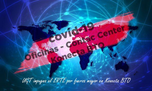 UGT impugna el ERTE por fuerza mayor de Konecta BTO